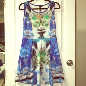 Aqua pixel dress